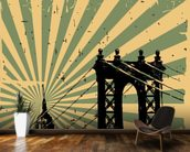 New York Vintage Poster wallpaper mural kitchen preview