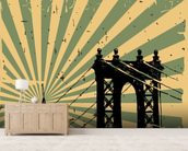 New York Vintage Poster wallpaper mural living room preview