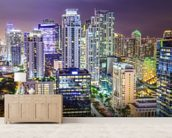 Miami Cityscape at Night wallpaper mural living room preview