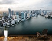 Miami From The Air mural wallpaper kitchen preview