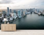 Miami From The Air mural wallpaper living room preview