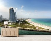 Miami Beach Florida wall mural living room preview