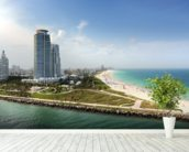 Miami Beach Florida wall mural in-room view