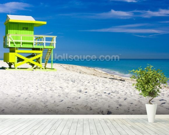 Miami Beach wall mural room setting