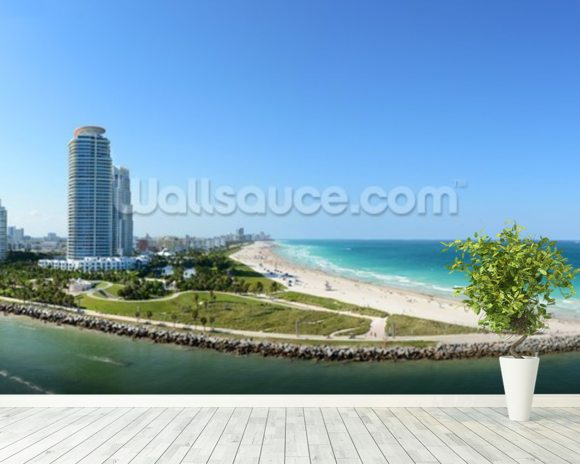 South Miami Beach wallpaper mural room setting