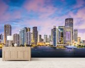 Miami Skyline, Florida wall mural living room preview