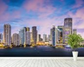Miami Skyline, Florida wall mural in-room view