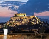 The Acropolis at Night, Athens wallpaper mural kitchen preview