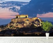 The Acropolis at Night, Athens wallpaper mural in-room view