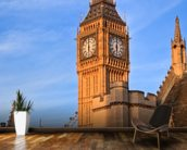 Big Ben and Westminster Abbey mural wallpaper kitchen preview
