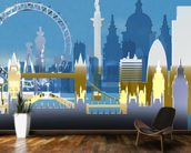 London Skyline Illustration wall mural kitchen preview