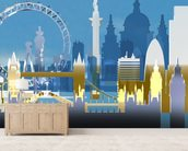 London Skyline Illustration wall mural living room preview