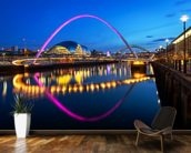 Millennium Bridge Newcastle wallpaper mural kitchen preview