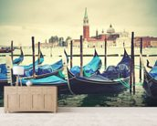 Venice Gondolas Vintage wallpaper mural living room preview