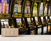 Slot Machines mural wallpaper living room preview