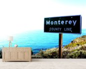 Highway One Monterey wall mural living room preview