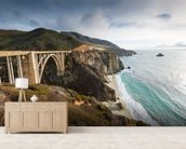 Pacific Coast Highway wallpaper mural living room preview