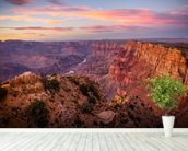 Grand Canyon View wall mural in-room view