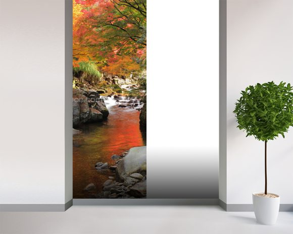 Autumn Colours, Japan mural wallpaper room setting