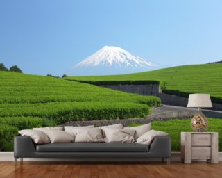 Snow Capped Mount Fuji wall mural