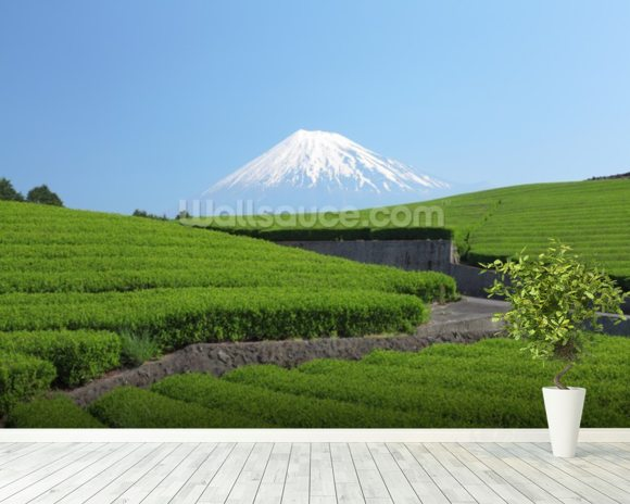 Snow Capped Mount Fuji wall mural room setting