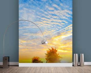 Sunflowers in Sunlight wall mural