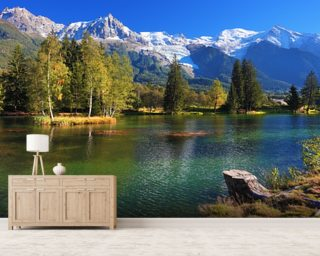 Snow Capped Mountains Wall Mural Wallpaper Wall Murals