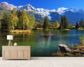 Snow Capped Mountains wall mural living room preview