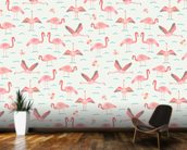 Flamingos wallpaper mural kitchen preview