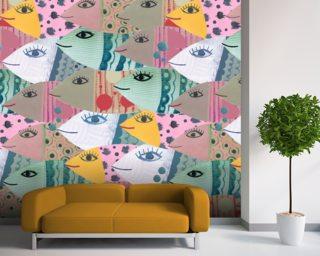 School Of Fish Mural Wallpaper Part 97
