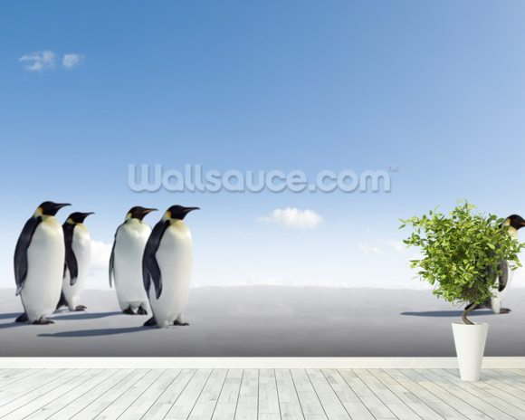 Emperor Penguin Rejection wall mural room setting