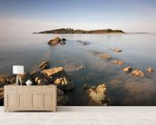 Island Rocks wallpaper mural living room preview