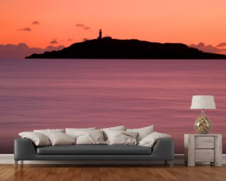 Lighthouse and Island wall mural