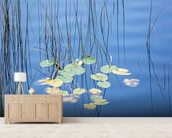 Reeds and Lily Pads wall mural living room preview