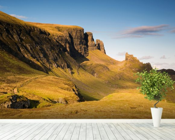 Towers of Skye mural wallpaper room setting