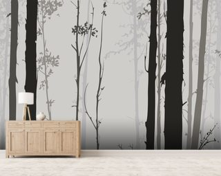 Forest Silhouette wallpaper mural