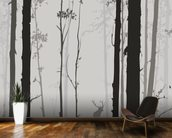 Forest Silhouette wallpaper mural kitchen preview