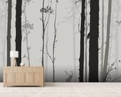 Forest Silhouette wallpaper mural living room preview