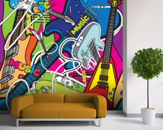 music wallpaper amp wall murals wallsauce music wall murals examples