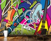 Colourful Music mural wallpaper kitchen preview