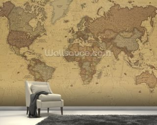 Ancient Map of the World Wallpaper Wall Murals