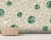 Beach mural wallpaper living room preview
