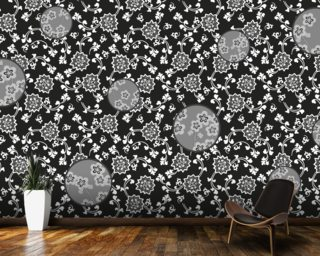 Night Flower wall mural