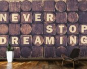 Never Stop Dreaming wall mural kitchen preview