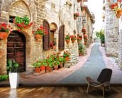 Tuscan Hill Town mural wallpaper kitchen preview