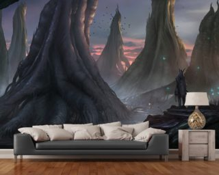 Moody Forest wallpaper mural
