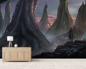 Moody Forest wallpaper mural living room preview