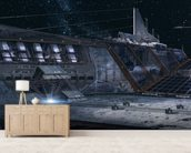 PO Lunar base wallpaper mural living room preview