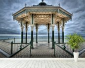 Brighton Bandstand wall mural in-room view