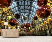 Covent Garden Christmas Baubles wallpaper mural living room preview